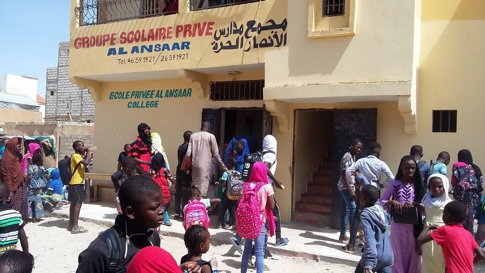 Nouakchott, bertemu dengan pelajar di sekolah menengah