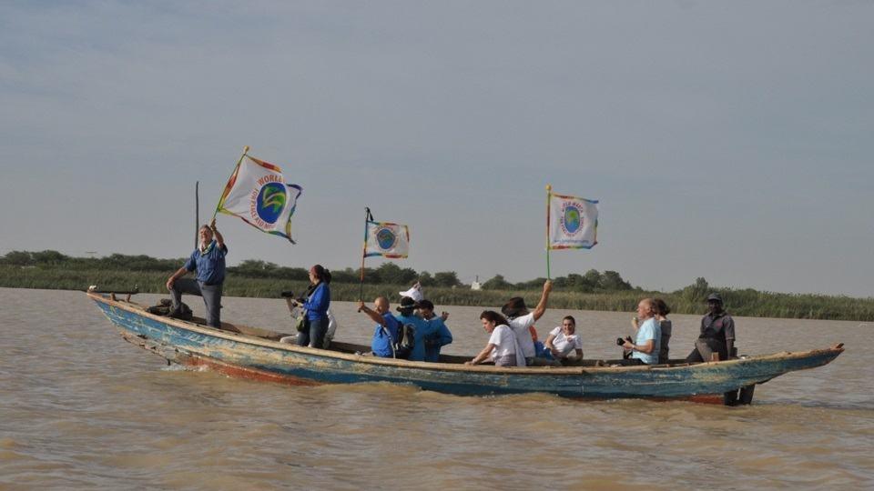 Von Rosso in Mauretanien überqueren Sie den Senegal