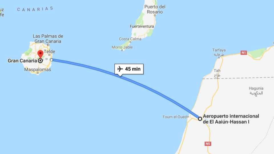 Llegada a Gran Canaria desde Marruecos