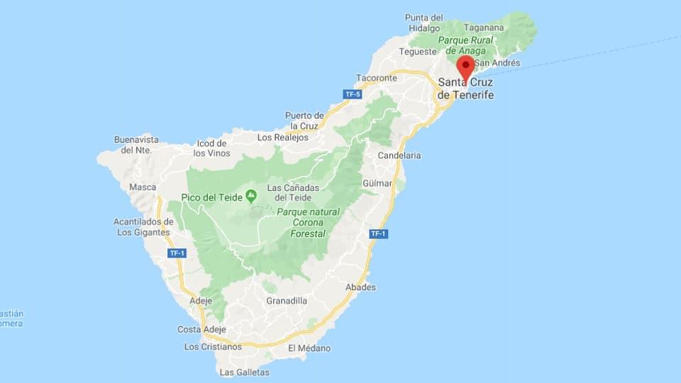 Ankunft auf der Insel Santa Cruz de Tenerife