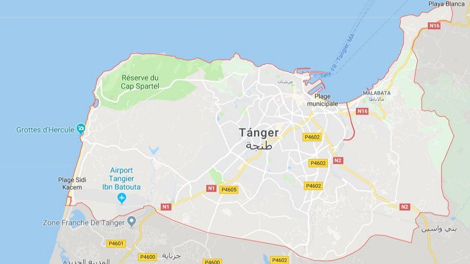 Ankunft in Tanger, Marokko