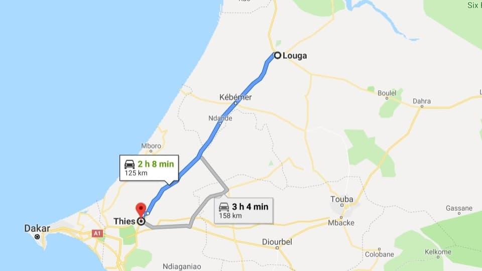 Ankunft in Thies, Senegal