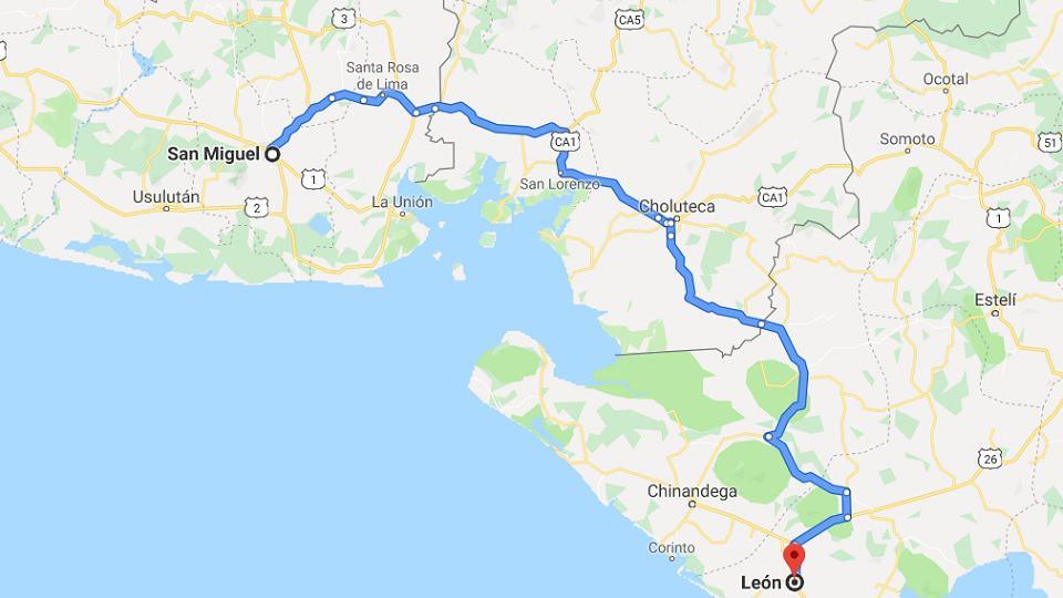 Ankunft in Nicaragua
