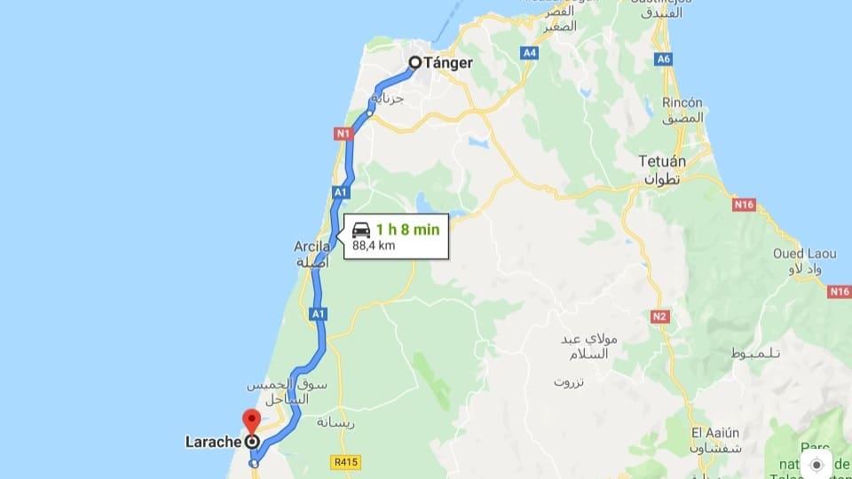 Ankunft in Larache, Marokko