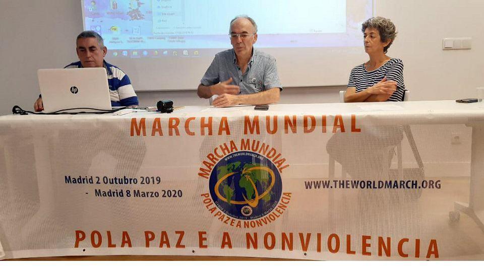 """Se presentó la Marcha en """"Cidade Vella"""""""