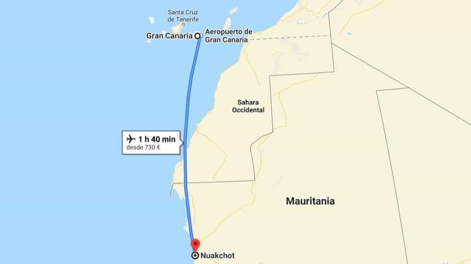 Ankunft in Nouakchott, Mauretanien