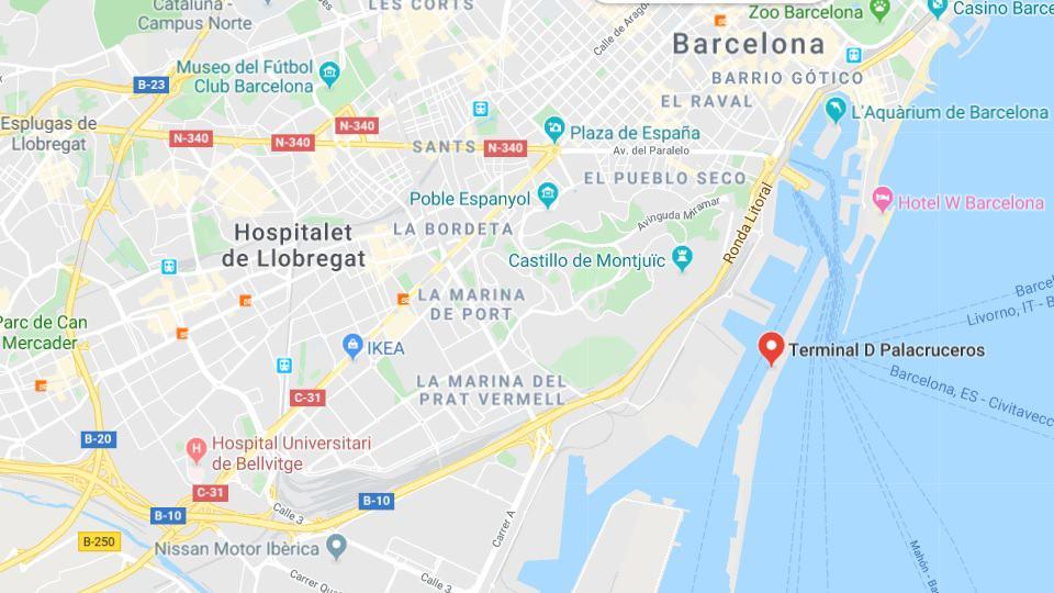 Aktivitäten auf dem Friedensboot, Barcelona