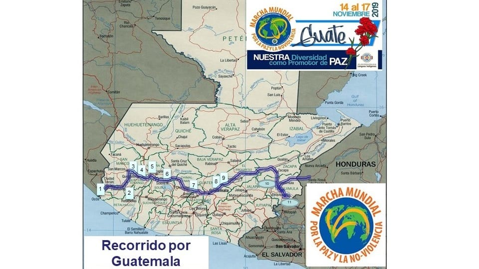 Auslieferung des Buches des Marsches, Mixco, Guatemala