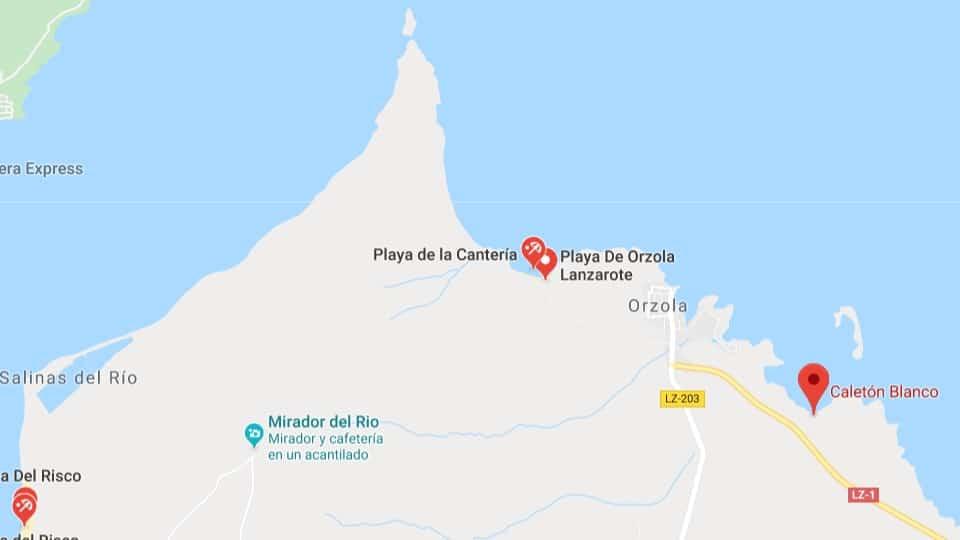 Cartina Lanzarote.Ny Fanadiovana Ny Caleton Fotsy Lanzarote Ny Volana Martsa