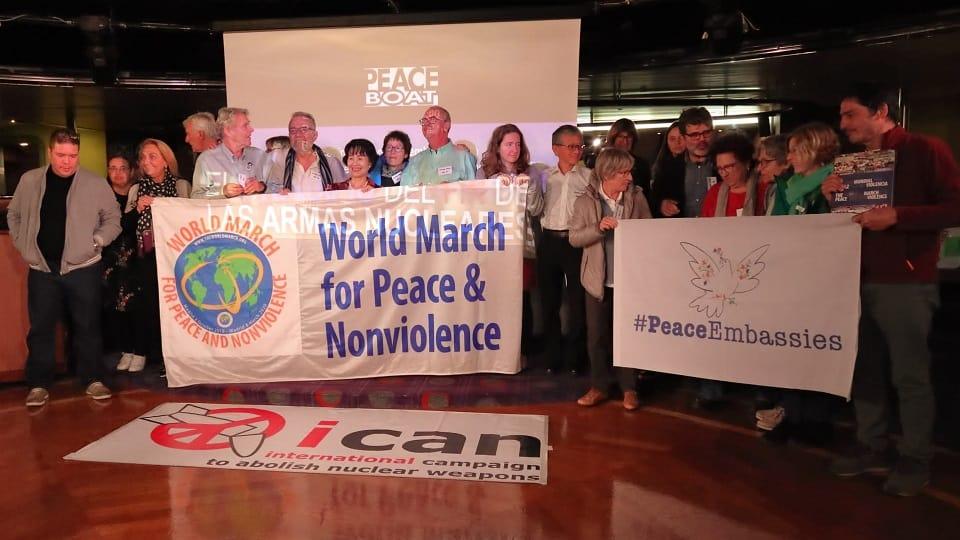La Marcha Mundial en el Peace Boat