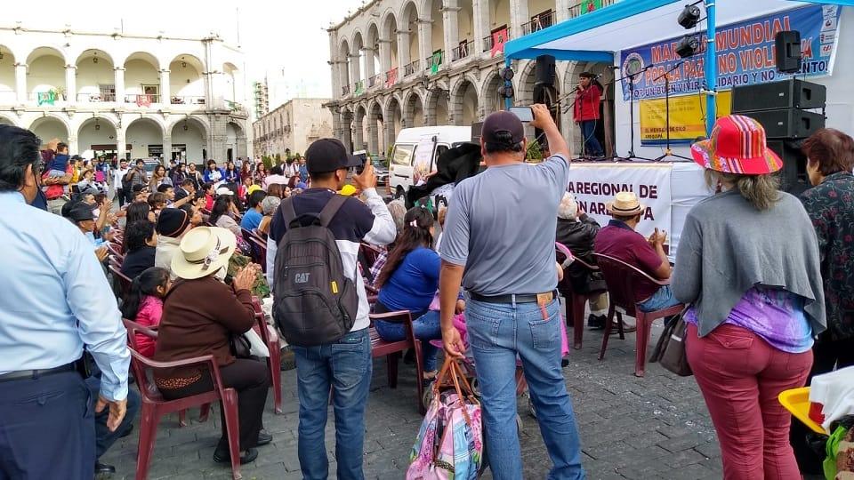 Recién pasó la Marcha por Perú
