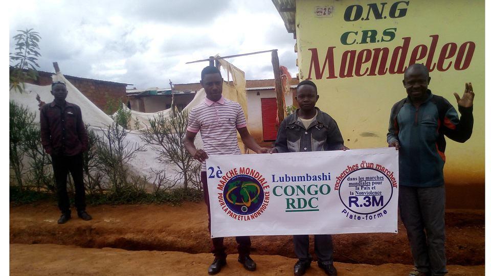 Uitzending van de Wereldmars in Lubumbashi