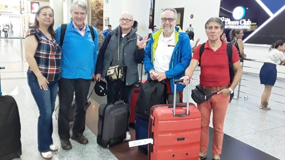 Equipo Base arribó a Ecuador
