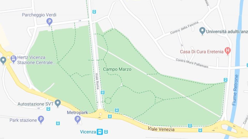 Llegada de Marchantes del EB y concentración, Vicenza