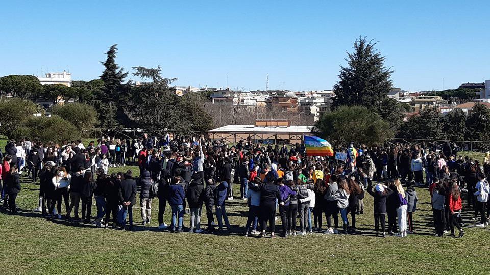 Paso de la Marcha Mundial por Roma