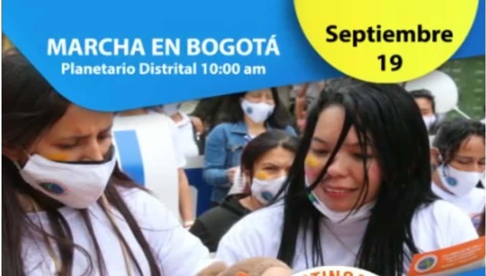 Март в Богота за ненасилие