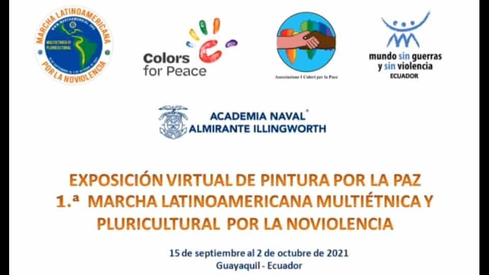 Friðarlitir með mars í Ekvador